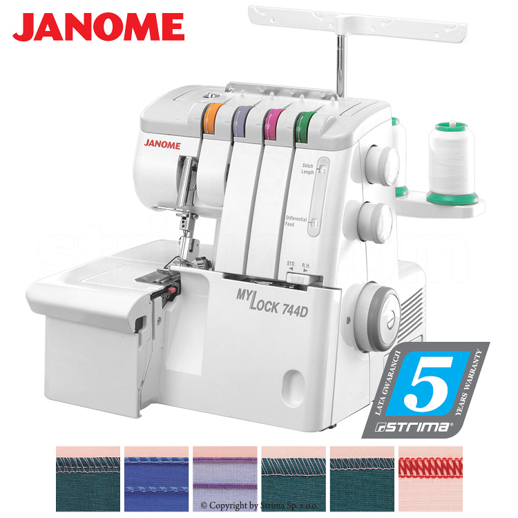 2, 3, 4- thread overlock machine - sewing machine - JANOME 744D