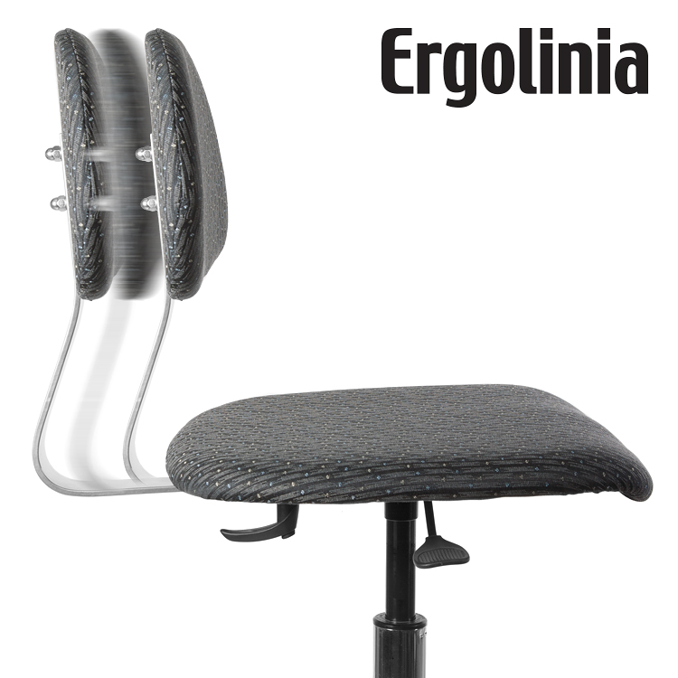 Industrial rotary chair - upholstered - pneumatic lift - ERGOLINIA EVO2