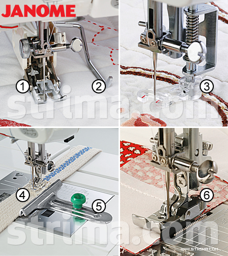 Quilting and patchwork kit for JANOME machines