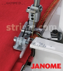 Blind stitch foot for JANOME overlock machines