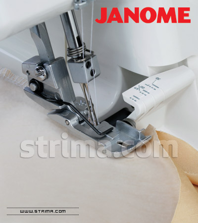 Piping foot for JANOME overlock machines