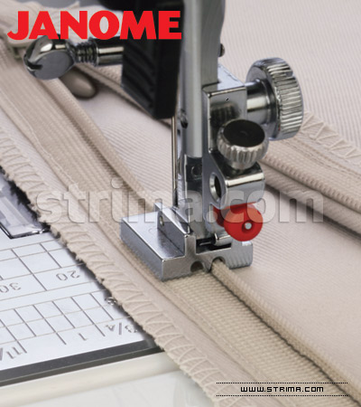 200333001 JANOME - Invisible zipper foot (for machines with horizontal rotary hook)