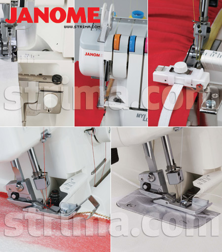 Foot set for JANOME overlocks