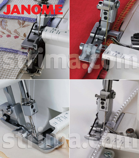200235105 JANOME - Foot set for JANOME overlocks