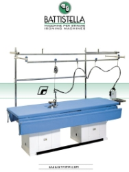 Ironing table for curtains and shades, 295x80 cm, with steam generator and light - BATTISTELLA URANO FOR CURTAINS SG LS