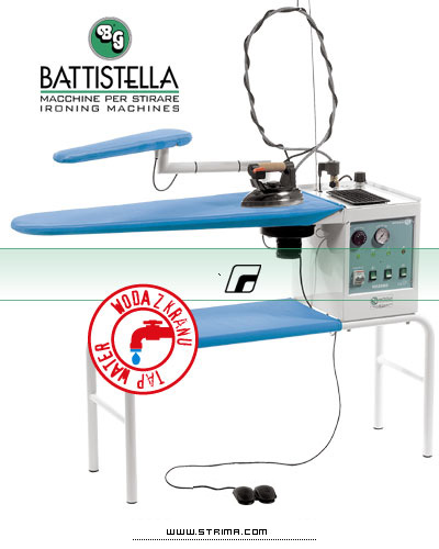 BATTISTELLA VULCANO BLOWING - Ironing table with steam generator and STEAM MASTER iron