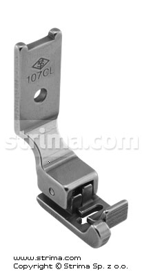 107CL - Compensating foot for zigzag 6mm, left