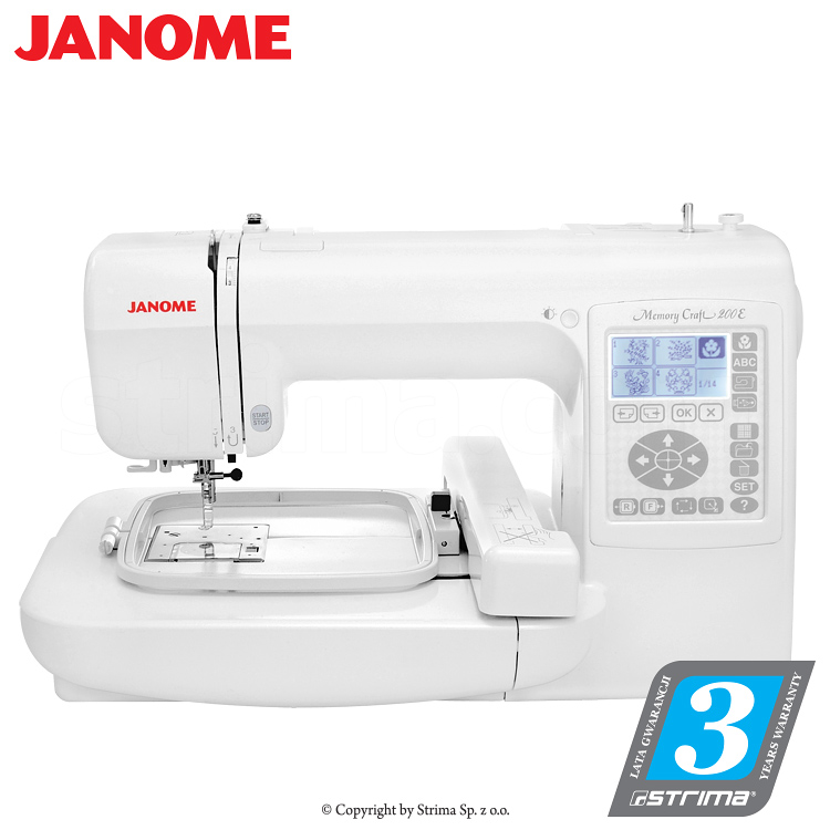 Strima janome memory craft 200e computerized for Janome memory craft 200e