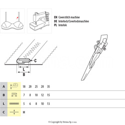 Tape folder with guide for elastic