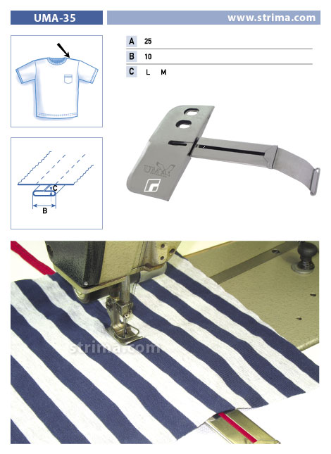 UMA-35 25/10 M - Attachment To Sew The Neckline On Polo Shirt Set