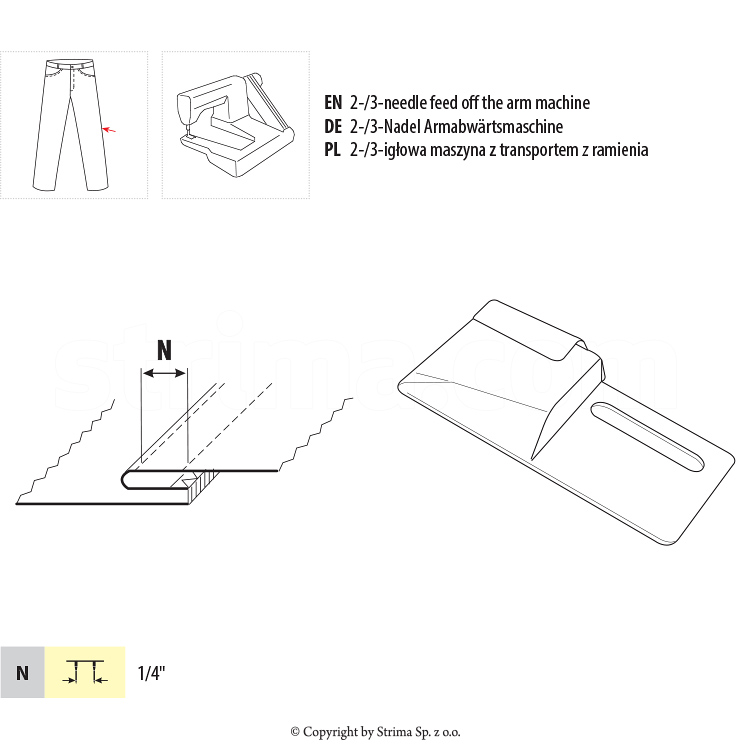 Top stitch guide
