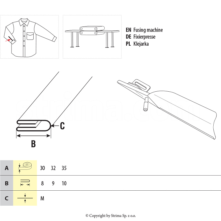 Pneumatic sleeve placket folder set