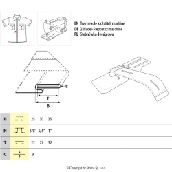 Imitation placket folder