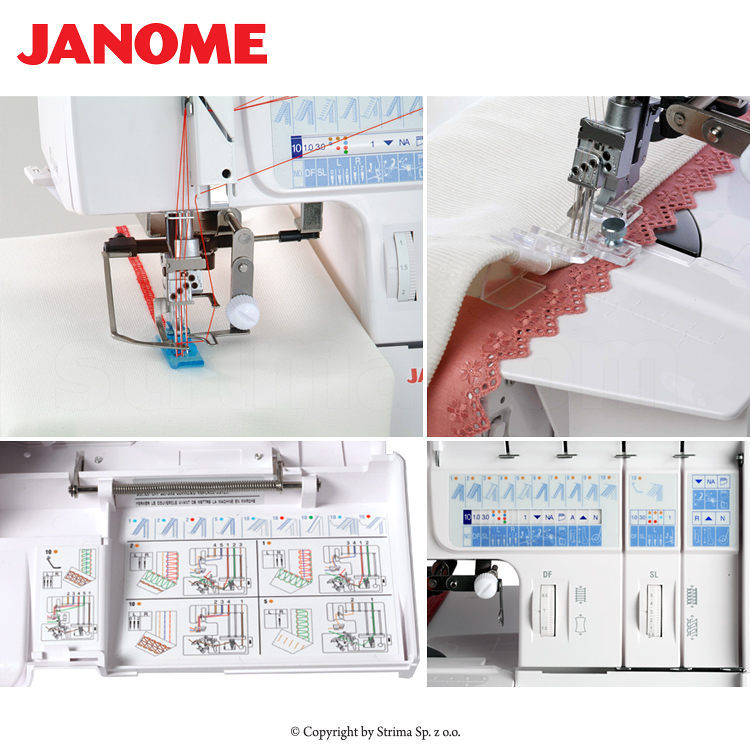JANOME 1200D PROFESSIONAL - 2, 3, 4, 5 - thread overlock machine with cover stitches [2 and 3 - thread] - sewing machine