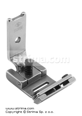 Foot for zigzag max 10mm with adjustable twosided tape guide and adjustable runner angle