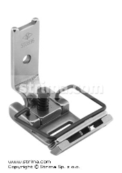 Foot for zigzag max 10mm with adjustable twosided tape guide, adjustable runner angle and needle guard