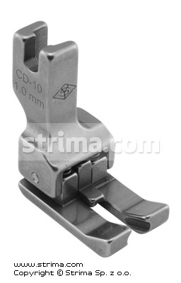 Compensating two-sided foot 1.0mm