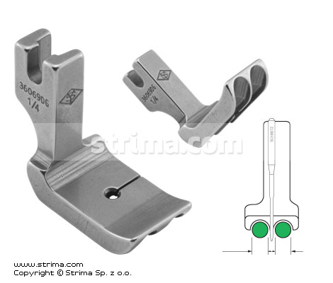 P69D1/4 [36069DG 1/4] - Piping twosided foot 6.4mm