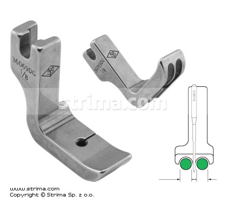 P69D1/8 [36069DG 1/8] - Piping twosided foot 3.2mm