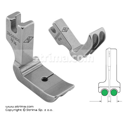 Piping twosided foot 4.8mm