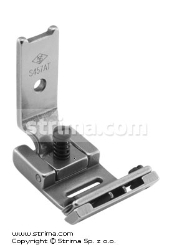 Foot for zigzag max 10mm with twosided adjustable tape guide and adjustable runner angle