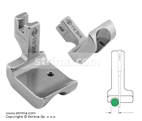 P69L1/2 [36069L 1/2] - Piping foot, left 12.7mm