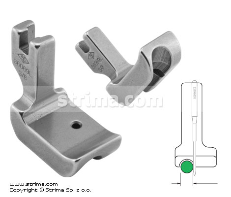 P69L3/8 [36069L 3/8] - Piping foot, left 9.5mm
