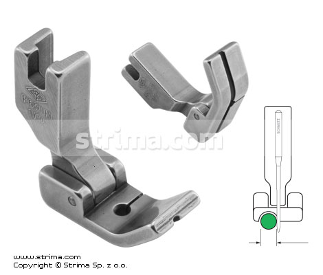 Hinged piping foot, left 1.6mm