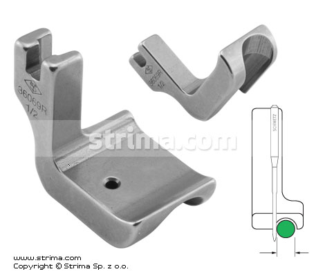 P69R1/2 [36069R 1/2] - Piping foot, right 12.7mm