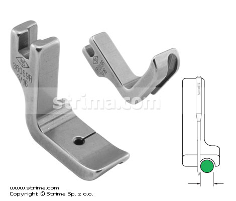 P69R3/16 [36069R 3/16] - Piping foot, right 4.8mm