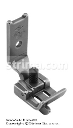 "Foot for two needle lockstitch machine 1/4"" with left gauge and adjustable runner angle"