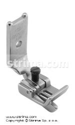 "Foot for two needle lockstitch machine 1/8"" with left gauge and adjustable runner angle"