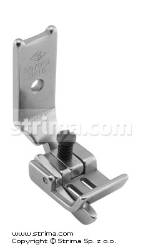 "Foot for two needle lockstitch machine 3/16"" with left gauge and adjustable runner angle"