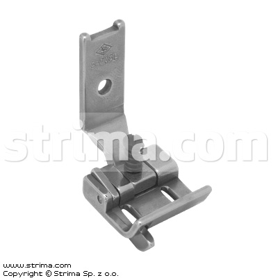 "Foot for two needle lockstitch machine 5/16"" with left gauge and adjustable runner angle"