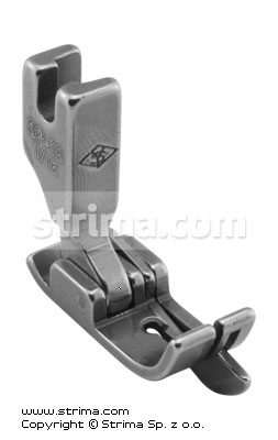 SP18-1/16 - Compensating foot 1.6mm with springing right gauge