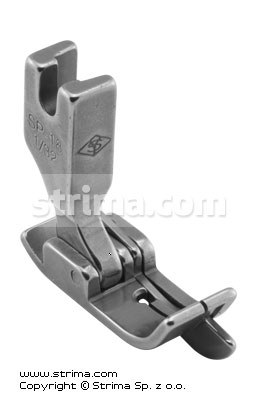 SP18-1/32 - Compensating foot 0.8mm with springing right gauge