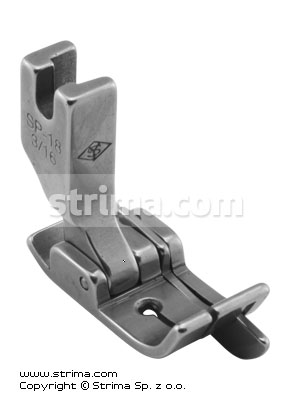 SP18-3/16 - Compensating foot 4.8mm with springing right gauge