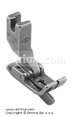 SP18L-1/8 - Compensating foot 3.2mm with springing left gauge