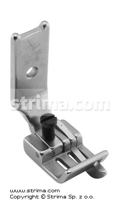"Foot for two needle lockstitch machine 3/16"" with right gauge and adjustable runner angle"