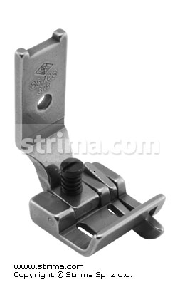 "Foot for two needle lockstitch machine 3/8"" with right gauge and adjustable runner angle"