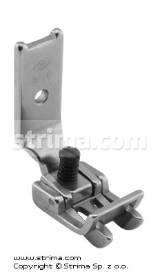 "Foot for two needle lockstitch machine 3/16"" with right and left gauges and adjustable runner angle"