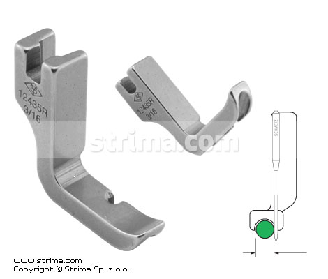 P31C3/16 [12435R 3/16] - Piping half-foot, right 4.8mm