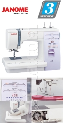 Multifunctional sewing machine - promotional set with 3 presser feet