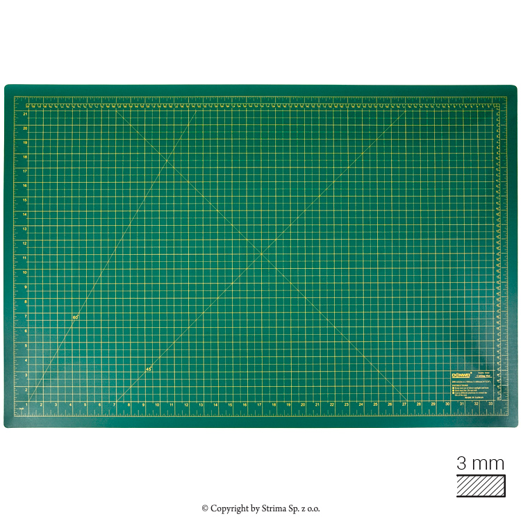 Self-healing cutting mat 90x60 cm, thickness 3 mm, green