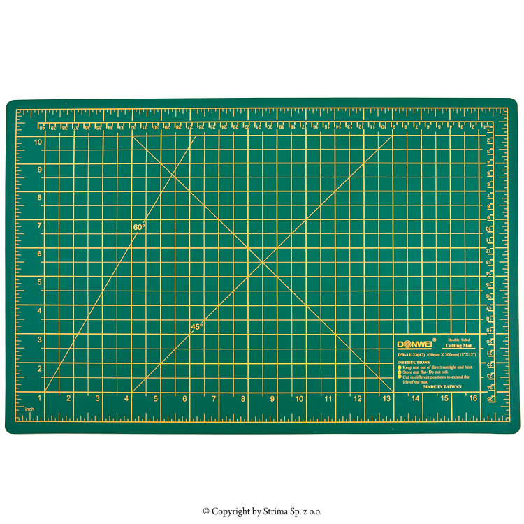 Self-healing cutting mat 45x30 cm, thickness 3 mm