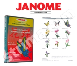 JANOME embroidery collection, vol. 1 - flowers and butterflies