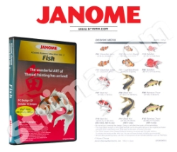 JANOME embroidery collection, vol. 3 - fishes - JANOME EMBROIDERY COLLECTION - FISH