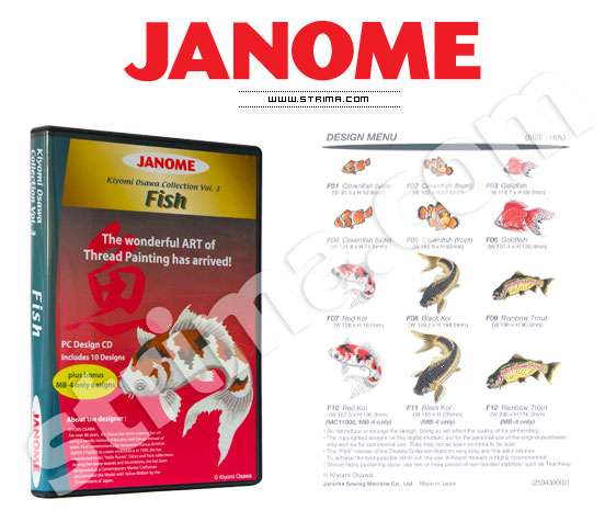 JANOME embroidery collection, vol. 3 - fishes