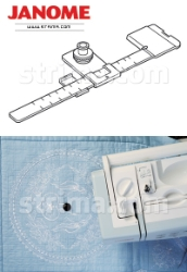 Foot for circular sewing for JANOME 525S, 626E, DC3030, DC4030, DC4100, MC5200, MC4900QC, MC9700