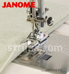 Hemming foot (for machines with horizontal rotary hook)